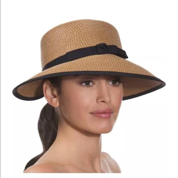 626f45bf821049 eric javits Accessories - Eric Javits squishee Hat, Derby summer straw $190